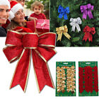 Christmas+Tree+Bow+Decoration+Baubles+XMAS+Party+Garden+Bows+Ornament+3+Colours