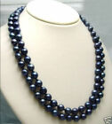 """Charming! 8-9MM TAHITIAN BLACK PEARL Necklace 25"""" 36"""" Long"""