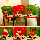 1 PC Cute Santa Red Hat Chair Covers Christmas Decorations Dinner Chair Xmas Cap