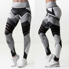 New Women Print Yoga Fitness Leggings Running Gym Stretch Sports Pants Trousers