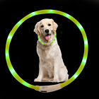 Pet Dog Waterproof USB Flashing Lights Night Safe Adjustable Radiant Collar Belt