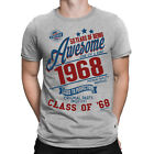50 Years Of Being AWESOME Mens 50th T-Shirt Class of 1968 Birthday Gift Retro