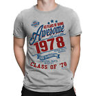40 Years Of Being AWESOME Mens 40th T-Shirt Class of 1978 Birthday Gift Retro