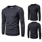 Mode Hommes Rayures Patchwork Casual Hoodies Hiver Sweatshirts Ras Du Cou Chaud