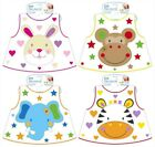 Wipe Clean Jungle Pals Baby Bib Feeding Mealtime Toddler 6months+ First Steps