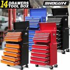 Shogun 14 Drawers Mechanic Tool Box Cabinet Toolbox Trolley Roller
