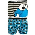Sesame Street - Cookie Monster Boxer Shorts Twin Pack - New & Official