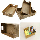 Внешний вид - S/M/L Rectangle Seagrass Woven Storage Basket Multi-purpose Home Organizer Box