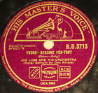 "JOE LOSS w. Orch. ""Yours & My Sister and I"" HMV 78rpm 10"""