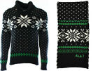 Ralph Lauren Polo Cotton Cashmere Snowflake Holiday Sweater & Scarf New $520