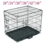 "20""—48"" Pet Kennel Dog Folding Steel Crate Animal Playpen Wire Metal Cage Crates"