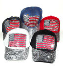 New hat USA American Flag Studs Sparkle Cotton Adjustable Fashion Baseball cap