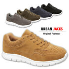 Mens Boys Faux Suede Fashion Running Gym Casual Shoes Trainers 7 8 9 10 11 12