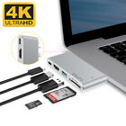 Aluminum USB Type-C 5in1 4K HDMI Hub Adapter Card Reader USB 3 for Macbook Pro
