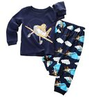 New Baby Toddler Boy Kid Pajamas Shirt + Pant Set Sleepwear Pjs Pyjama Size 2T-7
