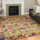 Modern Design Multi Colour Area Rug Contemporary Style Rainbow Carpet Rio Thin