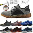 2018 Men's Safety Shoes Steel Toe Fashion Work Boots Breathable Hiking Climbing