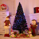 6/7' Feet Pre-Lit Fiber Optic Christmas Tree W/Stand 350 LED Multi Color Lights