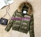 Womens Short Down Jakcet Faux Fur Hooded  Winter Puffer Parka Thick Coat Padded