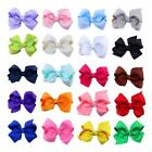 20Colors Baby Girl Boutique Bows Alligator Clip Ribbon Headwear Accessories Nice