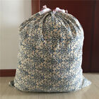 Large High-capacityPrinted Cotton Linen Drawstring Quilt Bag Home Sorted Bag S