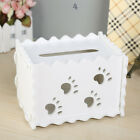 Wood Desktop Organizer Tissue Box Cover Hollowed Paper Office Decor 6 Models