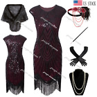 Womens 1920s Costume Flapper Gatsby 20s Party Prom Evening Cocktail Dress 6-20