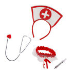 4 /set Nurse Costume Accessories Girls Woman Role Play Hen Stag Night Party