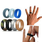 7 Pcs Silicone Wedding Ring Men Elegant Flexible Rubber Band Comfortable Durable