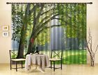 3D Lawn Trees 1 Blockout Photo Curtain Printing Curtains Drapes Fabric Window AU