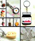 CHERRY NUTELLA PIZZA FRIED EGG CHOCOLATE CAKE KEYRING GINGERBREAD NECKLACE FOOD