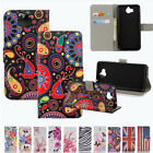 Printed PU Leather Wallet Folio Card Holder Kickstand Case Cover For Huawei P10