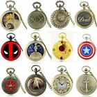 Antique Steampunk FUll Hunter Vintage Quartz Pocket Watch Chain Pendant Retro image