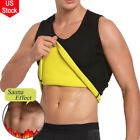 body paets - Men's Waist Trainer Vest Sauna Sweat Body Shaper Tank Top Slimming Trimmer Shirt