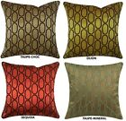 "OVALS Embroidered Pillow cover, 20"" x 20"", 4 CHOICES"