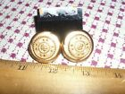 CAROLEE Large Button Style w. detailing and rhinestones Pierced Earrrings - EUC