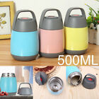 Stainless Steel 500ml Vacuum Thermal Box Insulated Food Soup Container Jar Flask