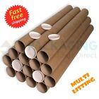 Postal Tubes - Extra Strong Quality Cardboard A4 A3 A2 A1 A0 + Plastic End Caps