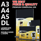 LOT NEW A3 A4 A5 DL Sign Holder Double Sided Retail Display Stands Menu Acrylic