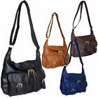 Large Women Cross Body Bag PU Leather Pocket Shoulder Messenger College Handbags