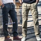 Outdoor Tactical Men's Army Pockets Overalls Loose Casual Trousers Cotton Pants