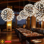Modern LED Suspension Light Spherical Pendant Lamp Ceiling Lighting Chandelier