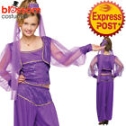 CK1098 Dreamy Genie Purple Arabian Aladdin Jasmine Princess Fancy Dress Costume