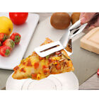 Fried Steak Clamp, Stainless Steel Bread Tongs Food Clip for Steak Pizza Pie
