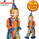 CK1111 Lil Clown Boys Girls Infant Toddler Funny Circus Birthday Costume + Hat