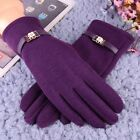 Women Full Fingers Cashmere Thick Warm Touch Screen Knit Gloves Winter