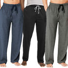 Hanes Men's Drawstring Tagless Cotton Knit Lounge Sleep Pants Fly & Pockets