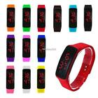 Touch Screen LED Watch Sports Silicone Digital Wristwatch For Adult Children CE