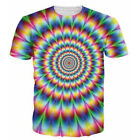 Men Women 3D T-Shirt Hypnosis Magnify Funny Print Tee Tops Casual Short Sleeve