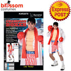 CA558 Champion Boxer Rocky Balboa Boxing Mens Sports Wrestler Costume Outfit